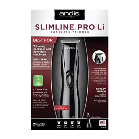 Andis Barber Grooming Cutting Black SlimLine Pro Li T-Blade Trimmer  CL-32475  Amazon.com.mx  Salud 107753d09678