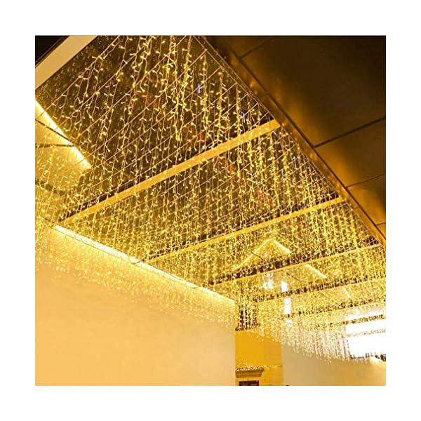Elegear 4M Luci Natale Impermeabilità Tenda Luminosa Esterno Tenda Luci con 8 Programmi Decorazioni Natalizie per Balcone, Salotto, Giardino,Terrazza 1 spesavip