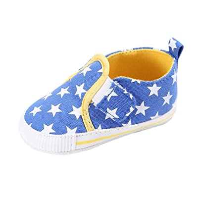 Voberry Baby Boys Girls Toddlers Slip On Comfort Sneakers Loafers Soft Anti-slip Outdoor Canvas Shoes