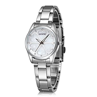 20f3a94bd55 Ladies Water-Resistant Stainless Steel Wrist Watch for Women - Female Silver