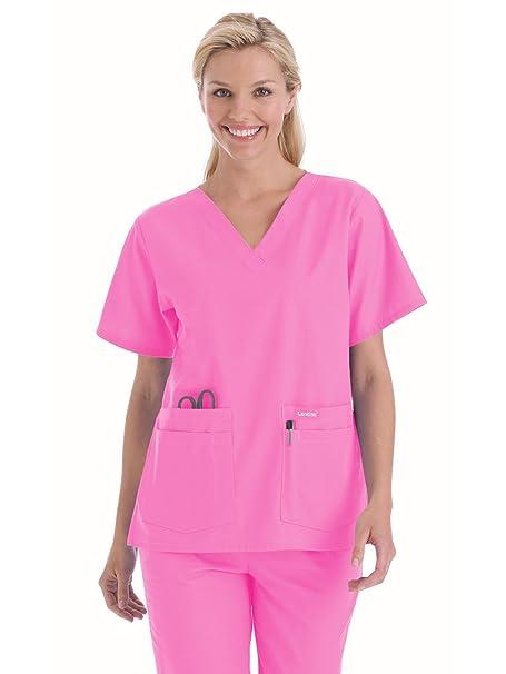 a5824d6b9de Amazon.com: Landau 'Women's V-Neck Tunic Scrub Top - 8219' Scrub Top:  Clothing