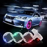 CARLITS Car Tire Wheel Lights, 4pcs Car Wheel Tire Air Valve, Hub Lamp Cap Light with Motion Sensors Colorful LED Tire…