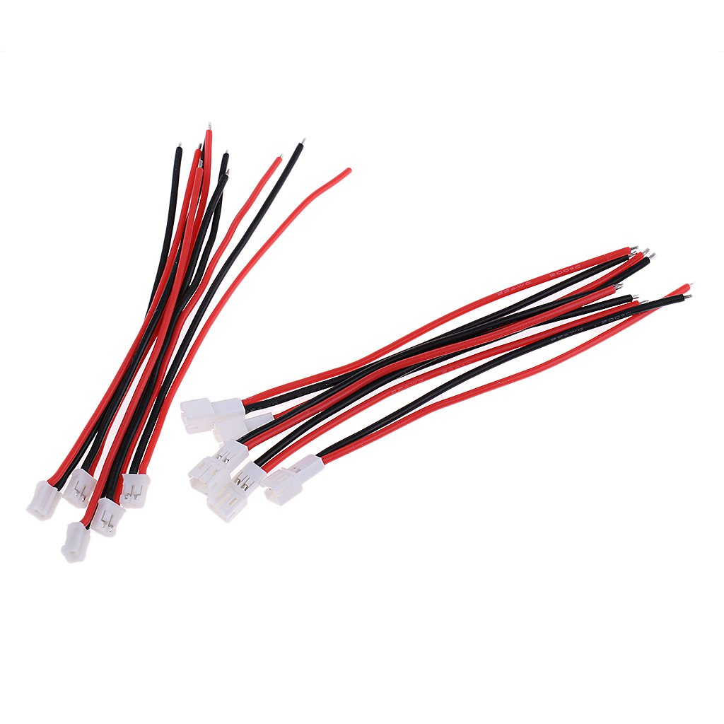 Baoblaze 10x Set Rc Models Jst Ph 20 Female Male Socket Cable Wire Harness