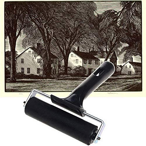 3 Pack Rubber Brayer,Rubber Glue Roller Paint Brush Art Craft Oil Painting Tool
