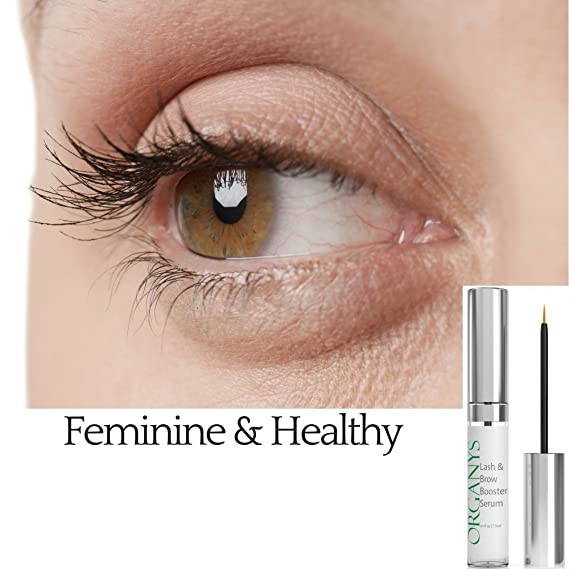 58e42b39e25 Organyc Eyelash & Eyebrow Growth Serum (High Potency) Grows Longer, Fuller,  Thicker Lashes & Brows in 60 days! Enhancing Conditioner Treatment Boosts  ...