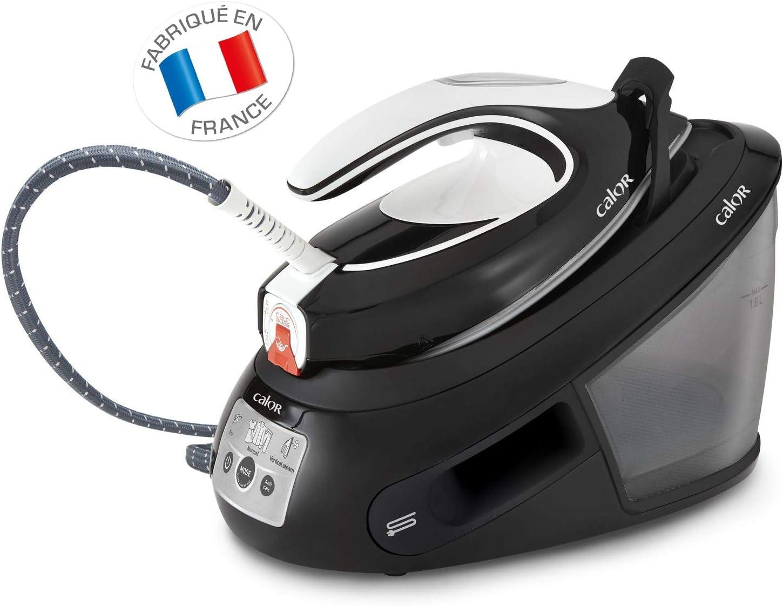 Calor Centrale Vapeur Express Anti-calc Fonction Pressing 450 g/min Collecteur de Calcaire Exclusif Technologie sans Réglages  Noir/Blanc SV8055C0