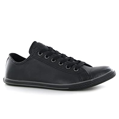 a79ce72b22c Converse CT Slim Ox Black Leather Mens Trainers Size 11 UK  Amazon.co.uk   Shoes   Bags