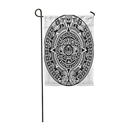 Amazon Com Semtomn Garden Flag Maya Aztec Calendar Inca