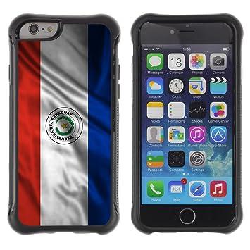 FJCases Paraguay Paraguayo Bandera Ondeante Goma Flexible Carcasa Funda Antideslizante A Prueba De Choque Para Apple