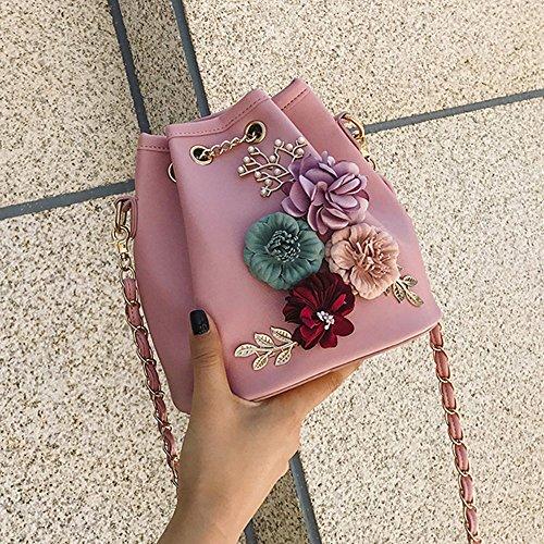 KIMODO Bag Purse Handbag Applique Shoulder New Pink Bags Messenger Fashion Women TqrzwT