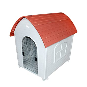 DZL® Caseta plástico para Perro Disponible en Dos tamaños (Rojo, 117 * 82
