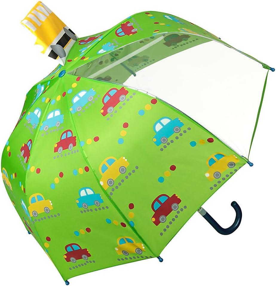 VON LILIENFELD® Paraguas Infantil Coches Auto Niños Niñas Ligeramente Estable Colorido Regalo hasta 8 años