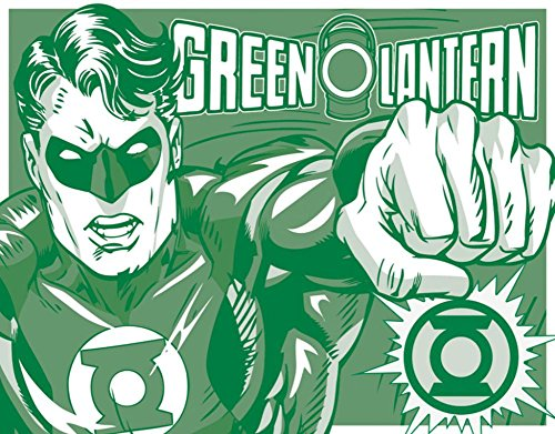 Green Lantern Tin Metal Sign : Duotone , 16x13