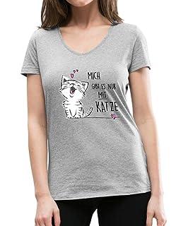Motiv//Spruch mich Katze Damen T-Shirt