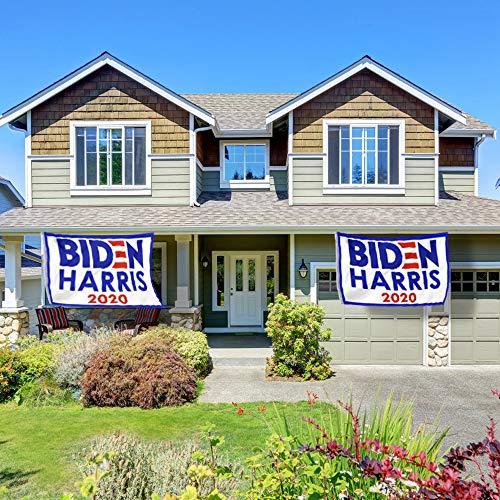 PACETAP Joe Biden Kamala Harris 2020 Flag,2 PCS 3\' X 5\' Ft President Democratic Banner Breeze Voting Flag Outdoor Activity Rally Sign (White)