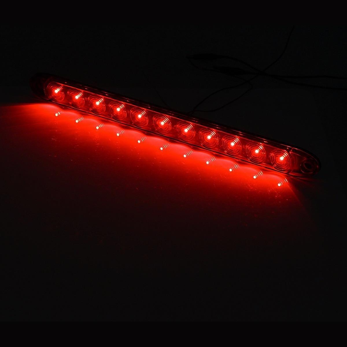 15Inch 11led Red Led Trailer Light Bar Stop Brake Lights Clear Lens Red Square Led Trailer Tail Lights+2.5 Mini Led Trailer Side Marker Lights Partsam 12v Led Trailer Lights Kit