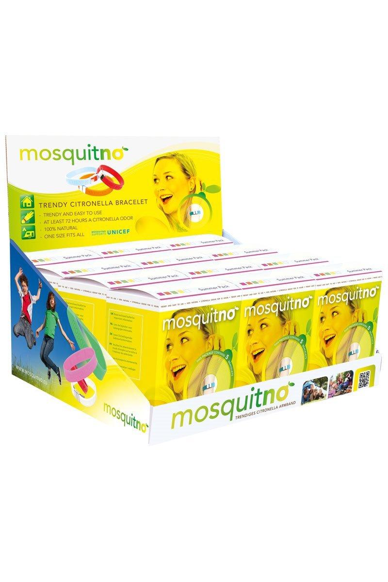 Mosquitno Citronella Bracelet 60 Count, Summer Colors, Summer Colors, 60 Count