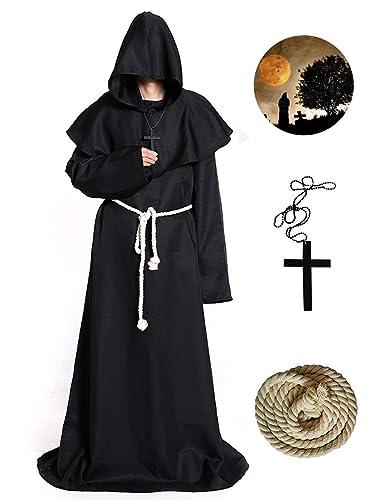 Amazon.com: Bess Bridal - Disfraz de monje medieval con ...