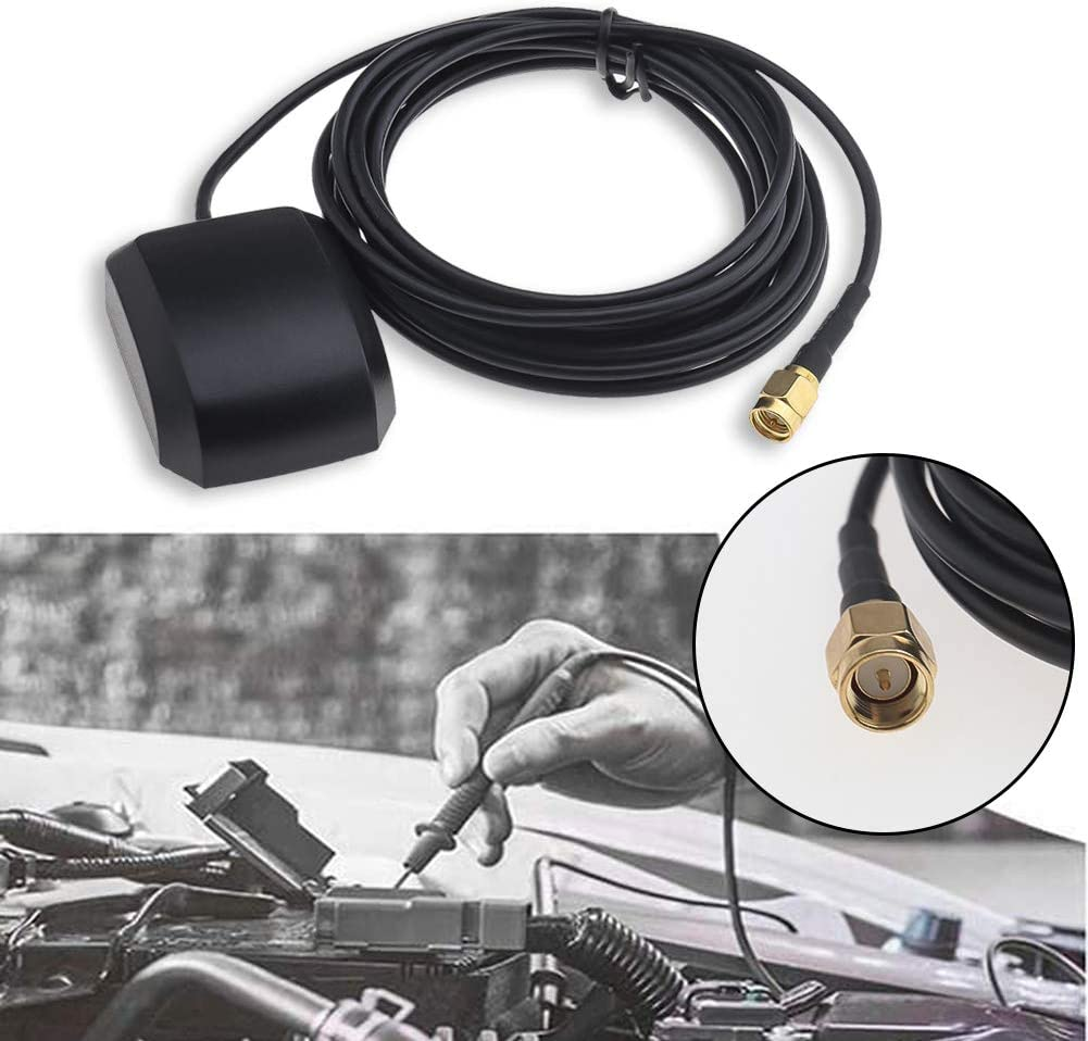 GPS Antenna SMA Male Plug Active Aerial Extension Cable 1575MHz 3 Meters Wire for Navigation Devices with SMA Connection