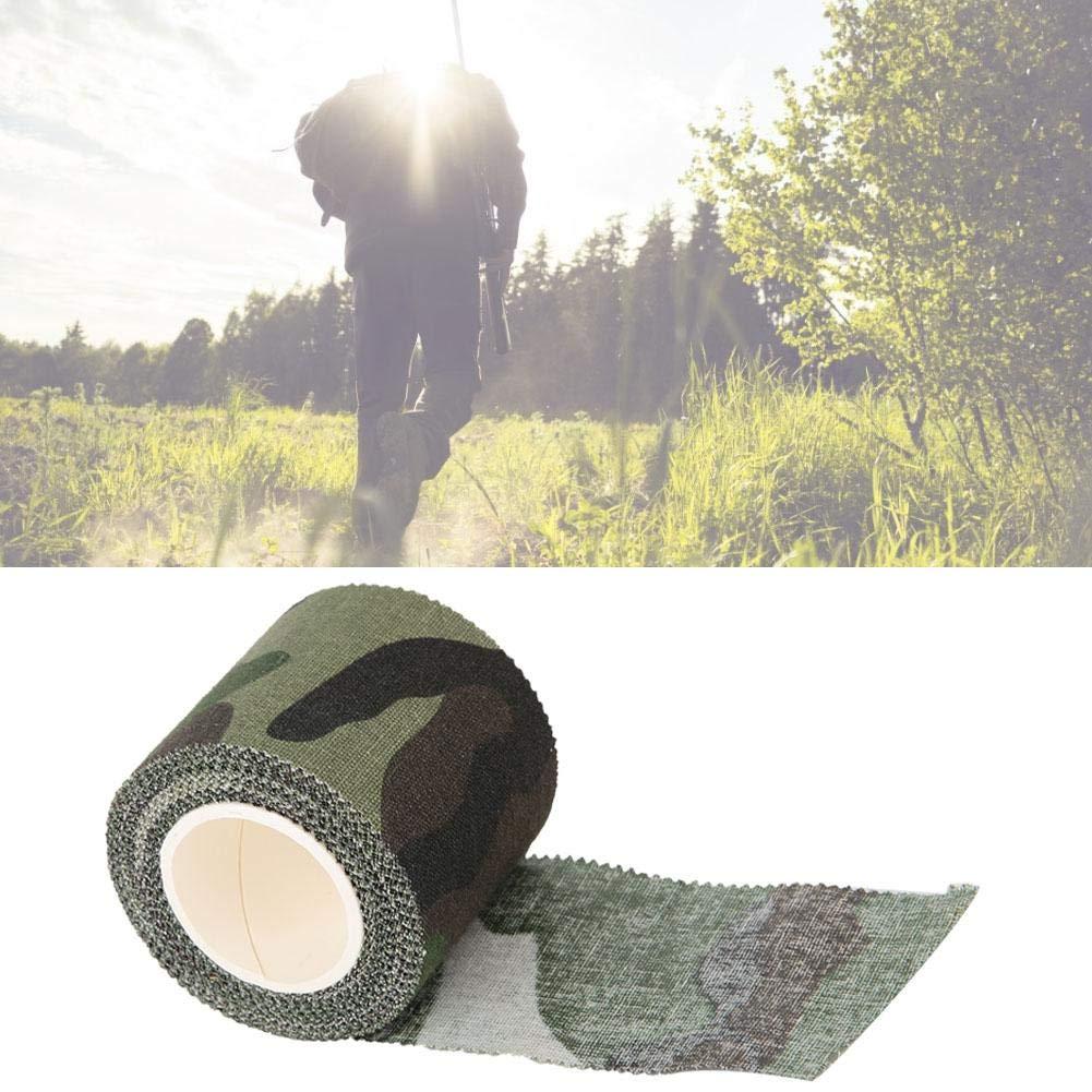 Bicaquu Ruban adh/ésif de Tissu de Coton de Camouflage de Tactiques de 4,5cm de 5m Mini pour Le t/élescope darc