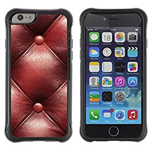 Suave TPU Caso Carcasa de Caucho Funda para Apple Iphone 6 / Leather Brown Maroon Pattern / STRONG
