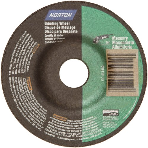 Norton Masonry Depressed Center Abrasive Wheel, Type 27, Silicon Carbide, 5/8