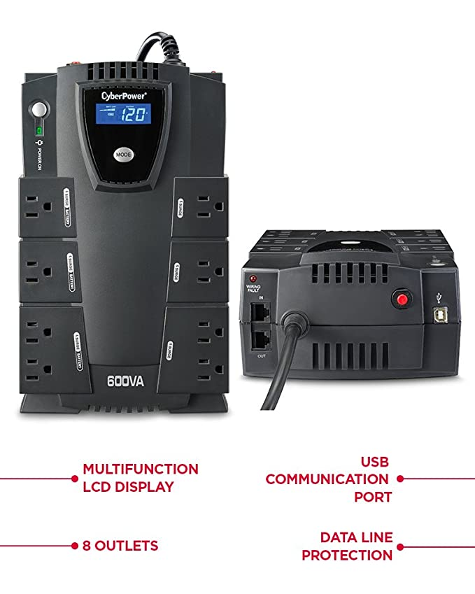 Best Budget-Friendly UPS: CyberPower CP600LCD Intelligent.