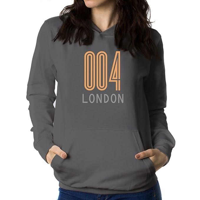 Teeburon ISO Code London Retro Sudadera con Capucha para Mujer: Amazon.es: Ropa y accesorios