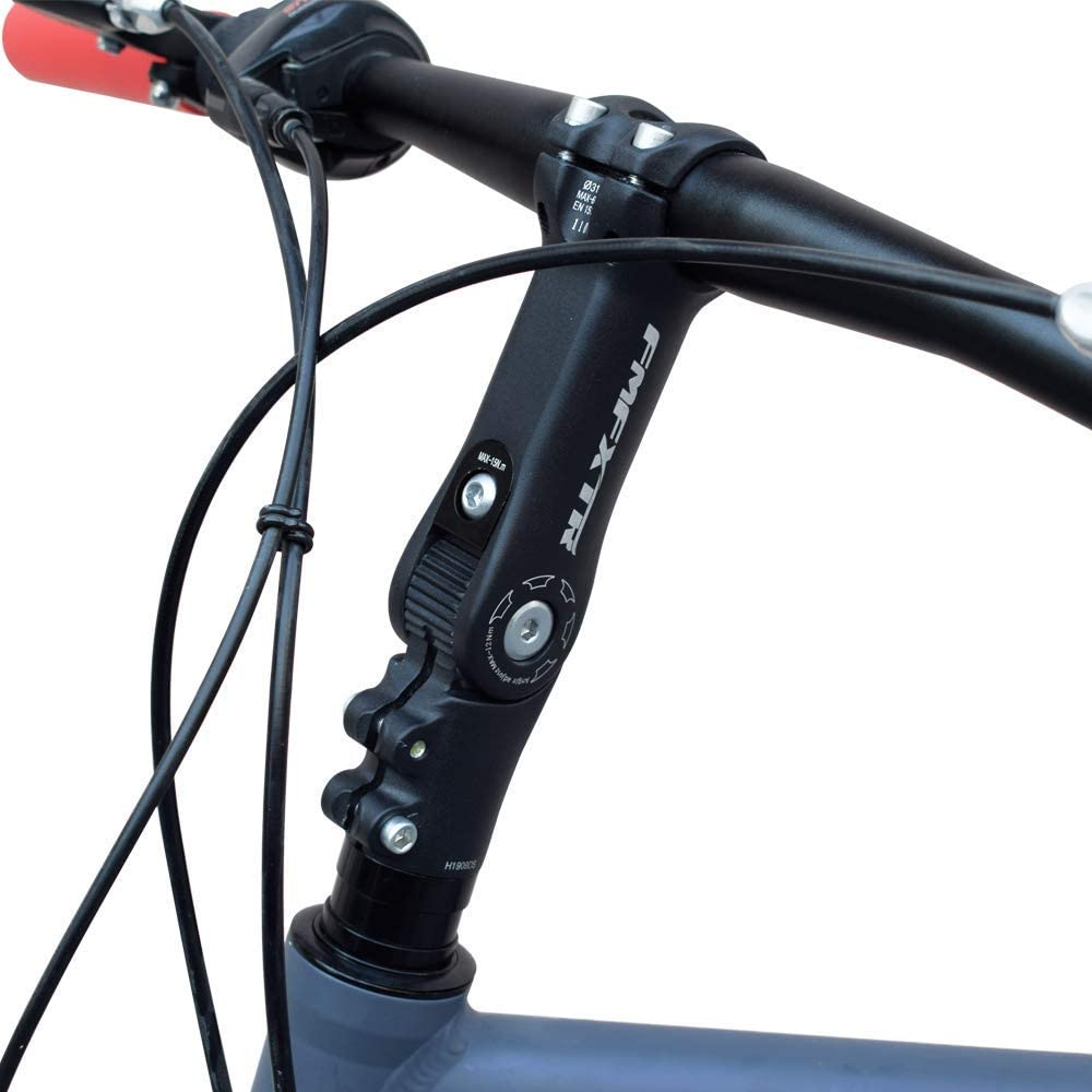 Metal Mountain Bike Short Handlebar Stem Riser Bicycle Adjustable Handlebar Stem
