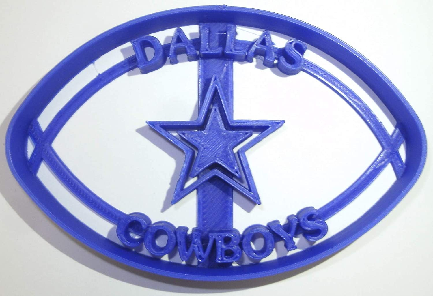 DALLAS COWBOYS NFL FOOTBALL TEAM SPORTS LOGO SPECIAL OCCASION FONDANT STAMP CUTTER OR CUPCAKE TOPPER SIZE 1.75