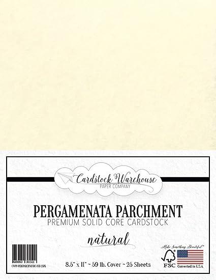 e1f67c8278a Amazon.com  PARCHMENT PAPER - PERGAMENATA NATURAL Cardstock 8.5