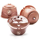 i Cafilas Refillable Crema Dolce Gusto Capsule Reusable Coffee Pods Filters Compatible for Nescafe Dolce Gusto Brewers (Update version Rich crema) (Color: Update version Rich crema, Tamaño: Updated Version Rich Crema)