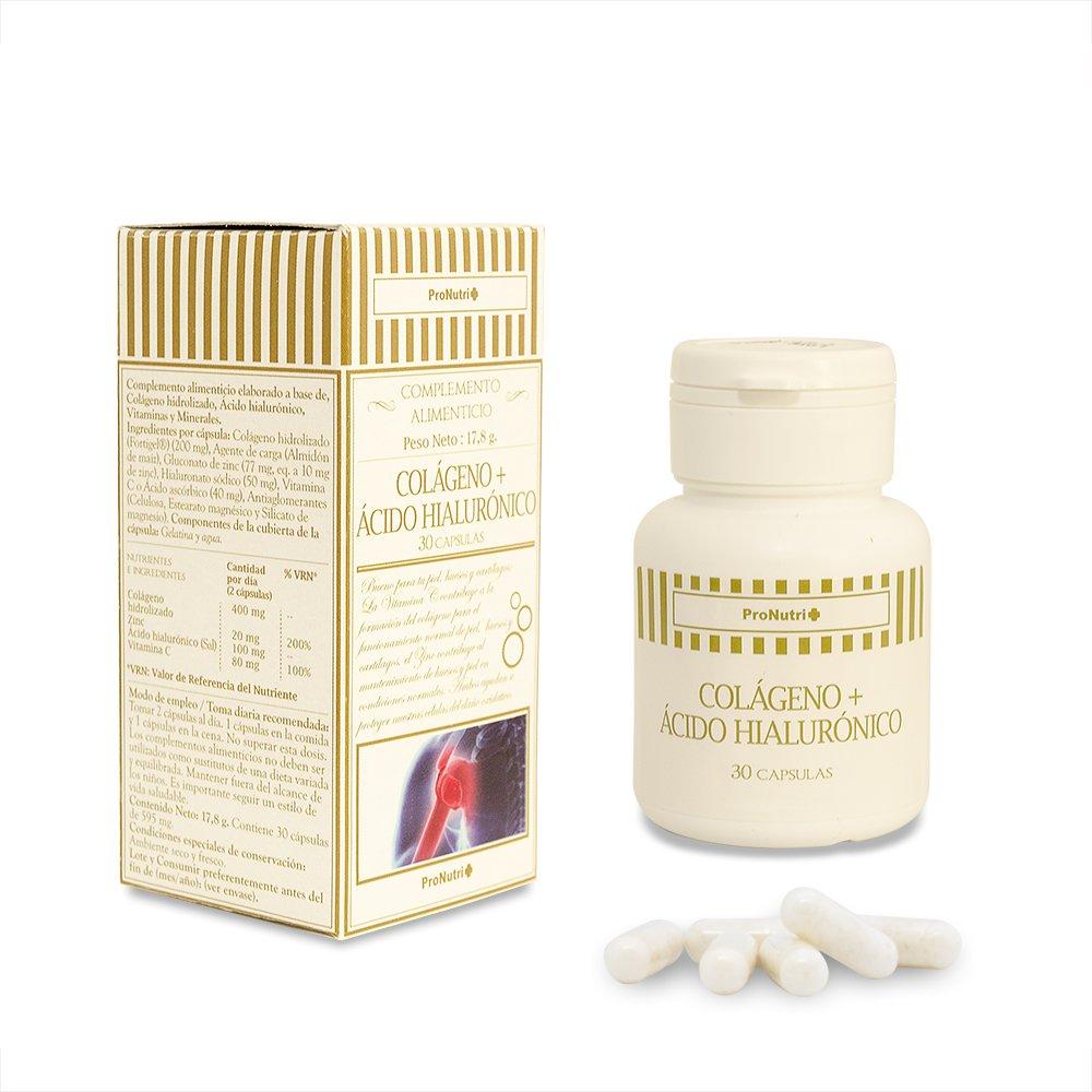 ProNutri Colágeno y Acido Hialuronico - 2 Paquetes de 30 Cápsulas: Amazon.es: Salud y cuidado personal