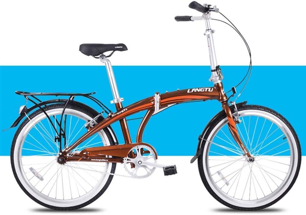 Cxmm Bicicleta Plegable Ligera, Adultos Hombres Mujeres Bicicletas ...
