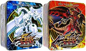 YuGiOh 5Ds 2010 Collection Tin 2nd Wave Set of Both Shooting Star Dragon Red ...