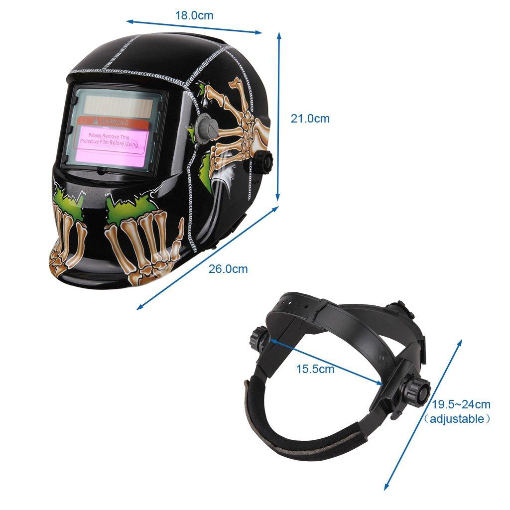 Casco Soldadura Fotosensible (ADF, 93x43mm Incrustaciones filtro LCD, Más Ligero, Protección Los Ojos), Ghost Garra: Amazon.es: Bricolaje y herramientas