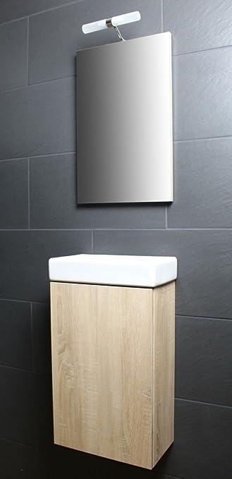 Badmöbel gäste wc  Amazon.de: Galdem Bad-Set CUBE Gäste WC Set Gästebad Badmöbel ...