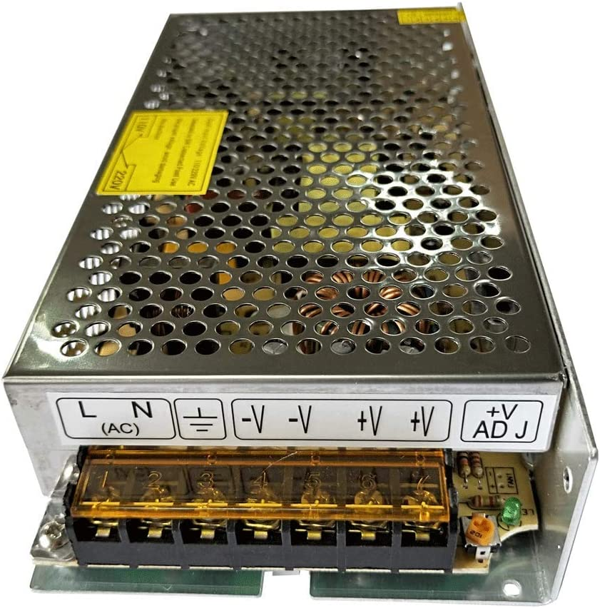 Henxlco AC 110V - 220V to DC 12V Regulated Transformer Switch Power Supply Driver Adapter for CCTV Camera Security System LED Strip Light (10A)