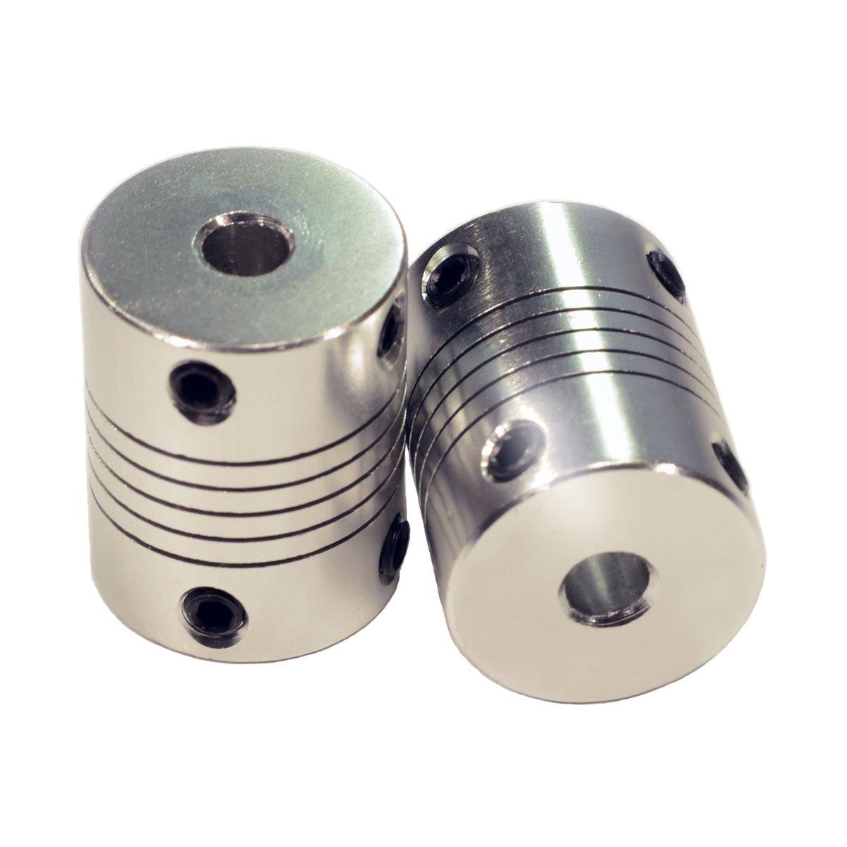 OctagonStar Flexible Couplings 5mm to 5mm NEMA 17 Shaft for RepRap 3D Printer or CNC Machine(2PCS)