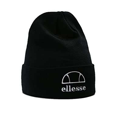 30d8e7b1 ellesse Men Accessories/Beanie Heritage Alezio Black One Size: Amazon.co.uk:  Clothing