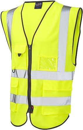 High Visibility Hi Viz Executive Vest Waistcoat Vis Reflective Safety Top Work