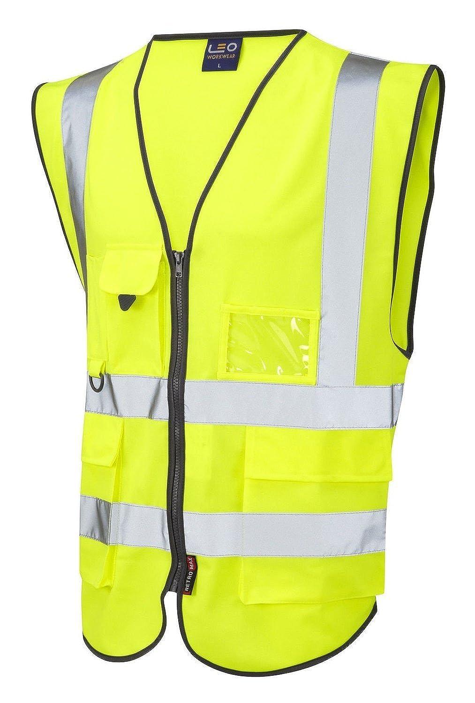 Discount Forever Hi Vis Viz Executive Safety Waist Coat Vest Yellow Work Wear hot sale