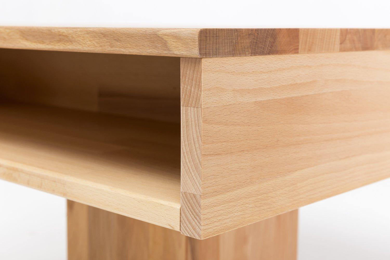 Woodlive Massivholz Couchtisch Quadratisch Aus X Kernbuche Geölter