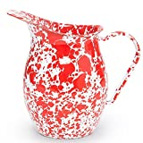 enamelware red pitcher - Enamelware Small Pitcher - Red Marble