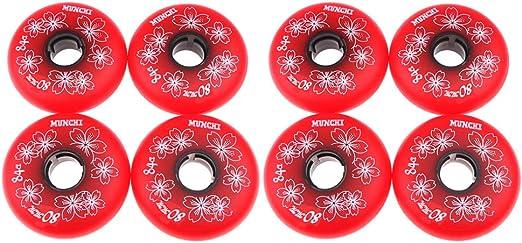 CUTICATE Roues Patin /à roulettes en Hockey sur roulettes Int/érieures De 8 Pi/èces 3 Tailles