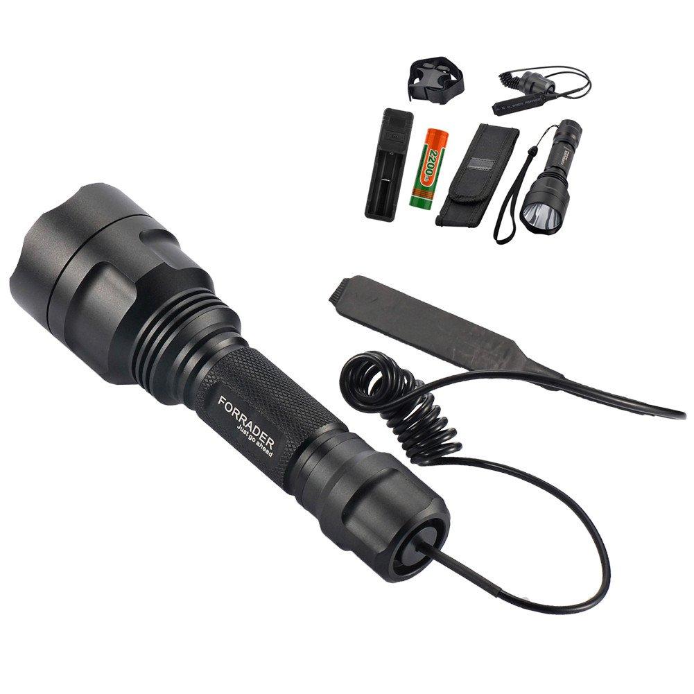 Forrader Kit pour lampe torche à lunette CREE XM-L pour la chasse T6 One Mode noir
