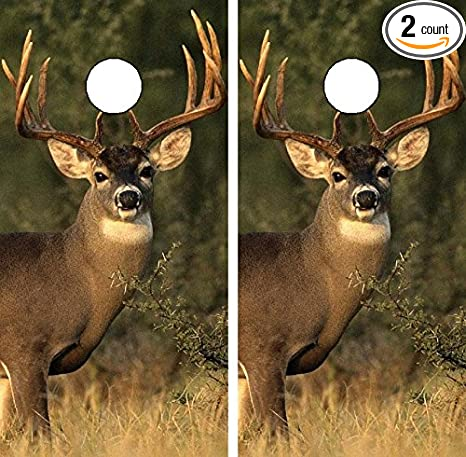Avery C112 Deer Hunting Cornhole Laminated Decal WRAP Set Decals Board  Boards Vinyl Sticker Stickers Bean Bag Game Wraps Vinyl Graphic Tint Image  Corn