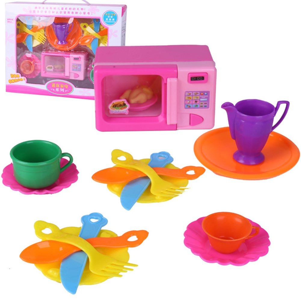 PER Oven Play Kit with Kitchen Pretend Playset for Kids Toddlers-A