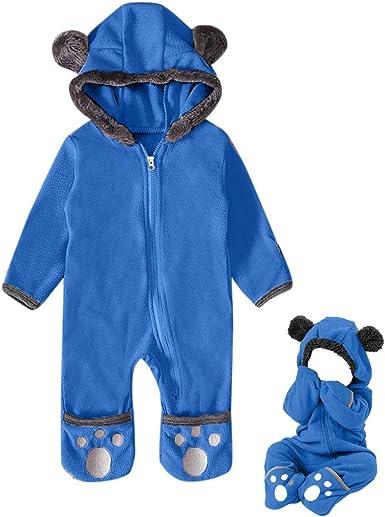 Newborn Baby Boy Girl Dinosaur Hooded Romper Jumpsuit Sleepwear Outfits Clothes