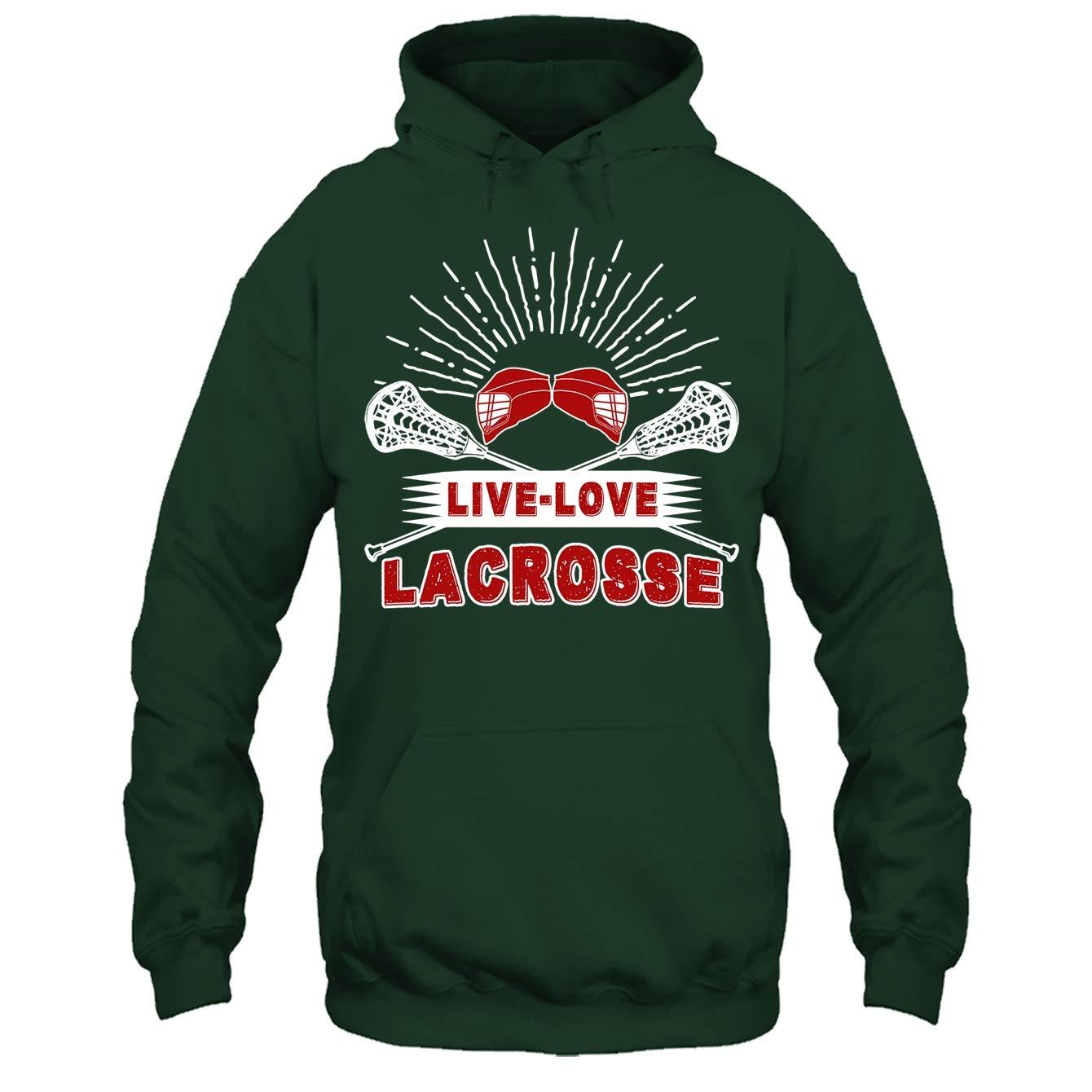Lacrosse Cool Tee Shirt Live Love Lacrosse Tshirt